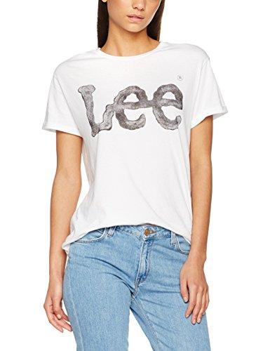 Lee Logo Tee, Camiseta para Mujer Blanco (White 12)