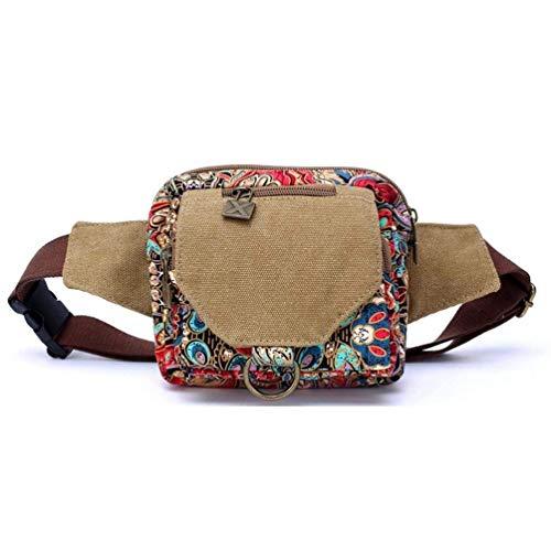 Moontang Le donne con una varietà di modi la tendenza della borsa di tela piccola borsa sportiva borsa a tracolla Messenger (due colori opzionale) (Colore : Blu, Dimensione : -) Rosso