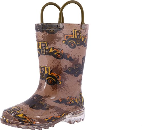 western-chief-kids-baby-boys-busy-bulldozer-lighted-rain-boot-toddler-little-kid-brown-boot
