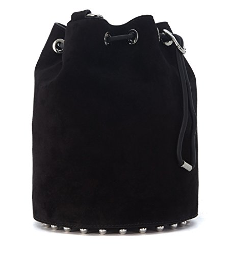 Secchiello Alexander Wang Alpha in camoscio nero - more-bags