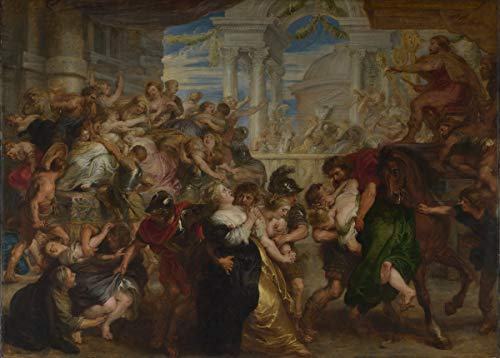 Berkin Arts Peter Paul Rubens Giclee Canvas Print Paintings Poster Reproduction(The Rape of The Sabine Women) Super Large 54.4 x 39 inches #SDFB (The Rape Of The Sabine Women Painting)