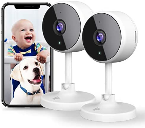 [New2021] WiFi Camera 2Pcs Littlelf Indoor Cameras for Home Security, 1080P Surveillance Cameras for House Security with 2-Way Talk, Human Detect, Night Vision, Good for Baby/Pet/Elder