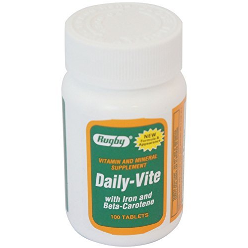 Daily - Vite Vitamin Tablets With Iron And Beta-Carotene - 100 Tablets by RUGBY LABORATORIES