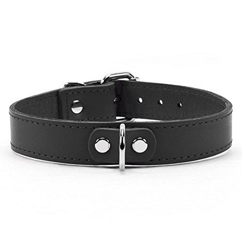 Collar Black Women Leather - AtlasI Collar Premium Handmade Latigo Leather (Black)