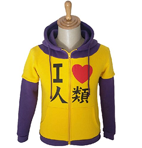 LifeShoppingMall No Game No Life Kuhaku Sora Shiro Cosplay Hoodie Jacket-Male-Large
