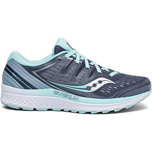 Saucony Women's S10464-1 Guide ISO 2 Running Shoe, Slate/Aqua - 8 US
