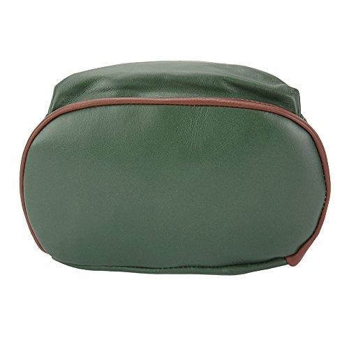 Vitello 9010 Florence marrone In Carola Market Scuro Zaino Leather funzione Verde Di Cuoio Multi FSfq6xF