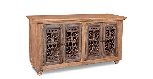 Crafters & Weavers Keystone Metalwork Door Console Cabinet
