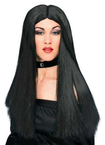 [Rubies Witch Wig, Black, One Size] (Witch Dresses)