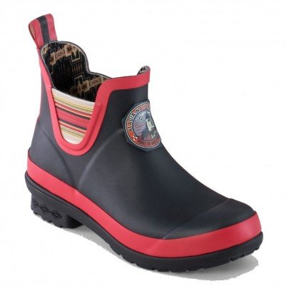 Pendleton Women's Acadia National Park Chelsea Black/Red Rain Boots 8M