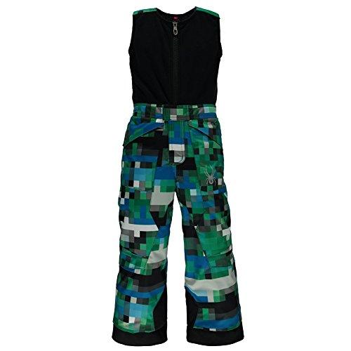 Blue Expedition Pant (Spyder Boys Mini Expedition Pants, Size 2, Pixel Electric Blue Print)