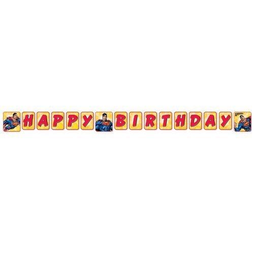 Superman Foil - Superman Happy Birthday Banner (1ct)