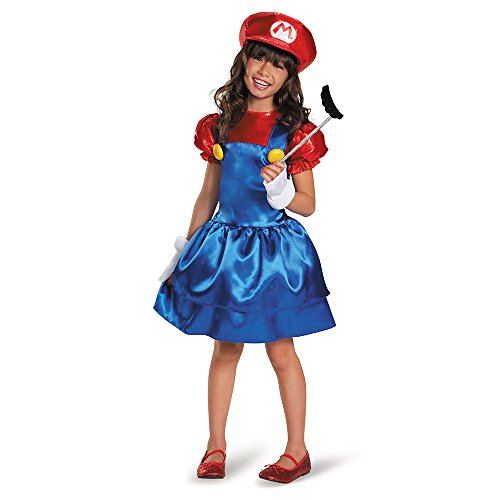 [Disguise Mario Skirt Version Costume, Large (10-12)] (Super Easy Character Costumes)