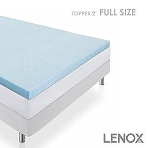 Amazon Com Cool Gel Full Size Memory Foam Mattress Topper
