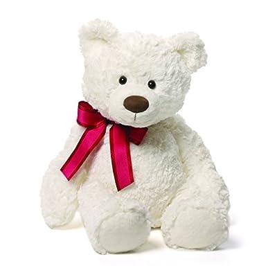 """Gund Piper White Teddy Bear Plush, 14"""""""