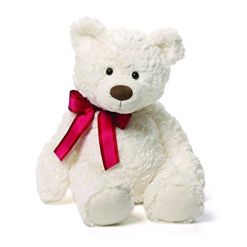 Gund Piper White Teddy Bear Plush, (14 Plush Bear)