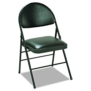 Amazon Com Cosco 60973blk4 Xl Folding Chairs Vinyl Seat