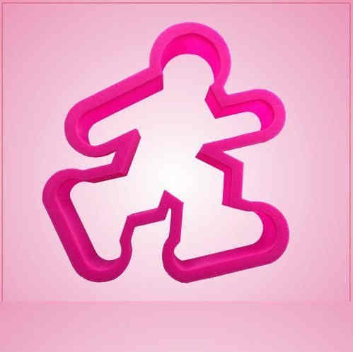 Pink Roller Skate Guy Cookie Cutter
