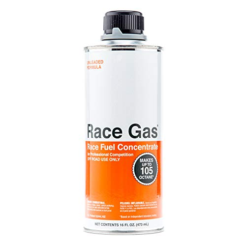 RaceGas 100016 Premium Race Fuel Concentrate Increases Gasoline Up to 105 Octan, 12 Pack