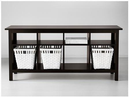 Amazon.com: New Ikea Hemnes Sofa Table Black-brown Solid Wood: Furniture & Decor