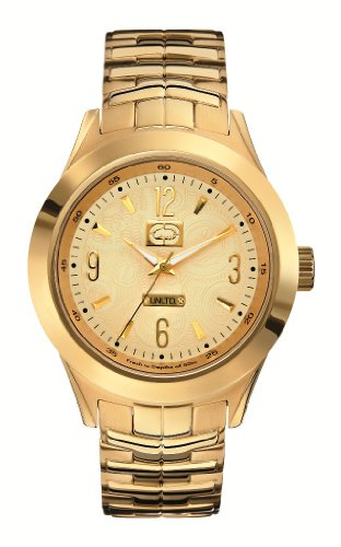 Marc Ecko Mens UNLTD The King Classic All Gold Tone Stainless Steel Bracelet Watch E17530G1
