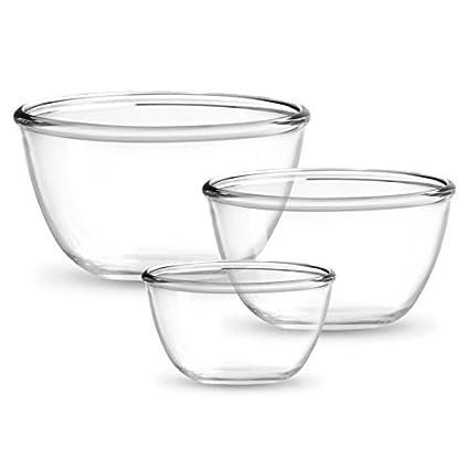 Treo Mixing Bowls 3Pieces Set (500/1000/1500) - TRANSPARENT(EC-GWF-FGB�