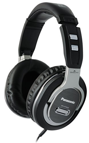 Panasonic Quick-Fit Over-the-Ear DJ Stereo Monitor Headphones RP-HTF600-S (Black & Silver) Lightweight, Comfortable…
