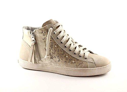 sneaker zip 12270 alte beige NERO lacci scarpe GIARDINI donna R86XBwfq