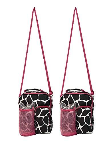 Cross-Body Daypack Handbag 2-PACK (Animal Skin Print)