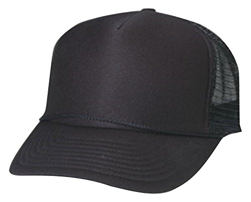 Cameo Foam Mesh Trucker Hat, Black, 58 (Cameo Hat)