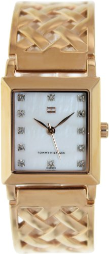 Tommy Hilfiger Women's 1780941 Rose-Gold Stainless-Steel Quartz Watch with Mother-Of-Pearl Dial