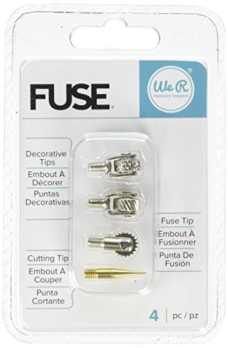 We R Memory Keepers 660870 Fuse Tool Tips Decorative Cutting & Fusing (4 Pack), Gold