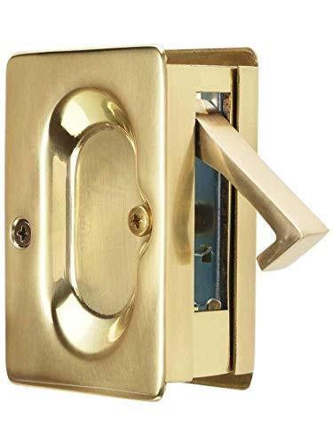 Emtek Pocket Door Passage Set in Satin Brass