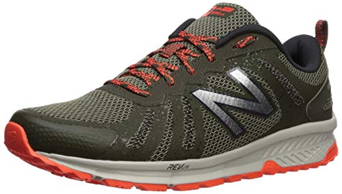 New Balance Men's 590v4 FuelCore Trail Running Shoe, Serpent Green/Alpha Orange, 10.5 D US