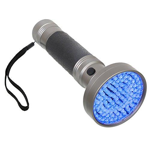 Black Light UV Flashlight 100 LED Blacklight Premium Handheld Ultraviolet Pet Dog and Cat Urine Stain Finder Detects Human Fluids, Counterfeit Money, Bed Bugs Scorpions & Leaks – Arf Pets