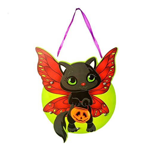 Lightclub Halloween Cute Kids Handwork DIY Cartoon Ghost Castle Pumpkin Bag Handbag for Gift Candy (8#)