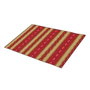 Eryoubs Doormat Red Gold Digi Art 14-Large Door Mat
