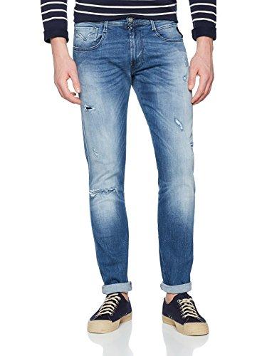 Jeans Anbass 9 light Blue Slim Replay Uomo Blu vq577p