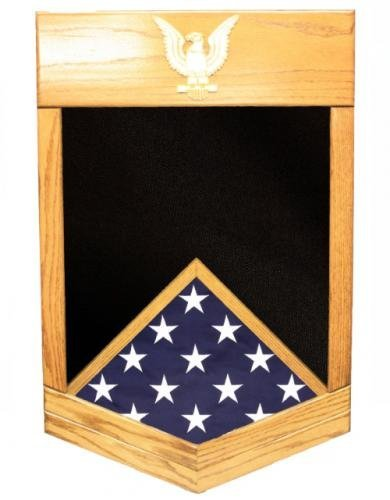Navy-Military-Shadow-Box-by-Ridgecrest-American-Grown-Hardwood-Customize-Now-Navy-Petty-Officer-2nd-Class
