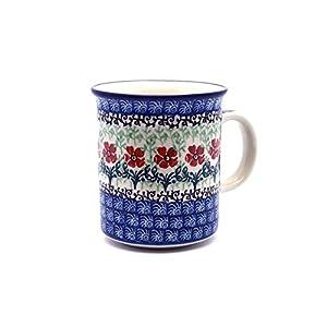 Polish Pottery Mug – Straight Sided – Maraschino