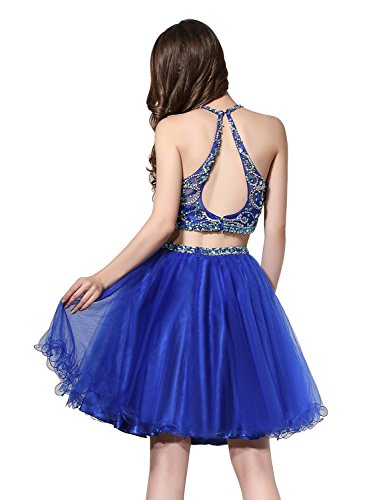 ec771d944f2 Home Homecoming Dresses Belle House Women s Short Tulle Beading Homecoming  Dress 2 Pieces Prom Gown for Juniors 2018 Blush.   