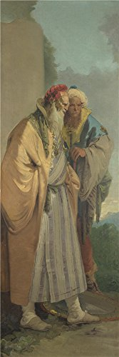 Bauhaus Costume Party (Oil Painting 'Giovanni Battista Tiepolo Two Men In Oriental Costume ' Printing On Polyster Canvas , 12 X 36 Inch / 30 X 91 Cm ,the Best Powder Room Gallery Art And Home Artwork And Gifts Is This Reproductions Art Decorative Prints On Canvas)