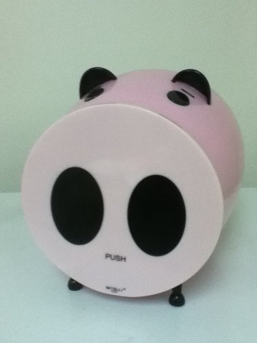 Merax Piggy Shaped CD DVD Storage Case 60 Capacity Color PINK