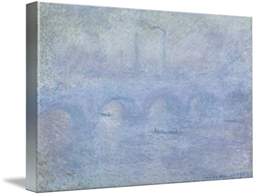 Wall Art Print Entitled Claude Monet - Waterloo Bridge - Effect of The MIS by Celestial Images | 48 x 31 - Claude Monet Waterloo Bridge