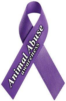 Animal Abuse Awareness Ribbon Magnet