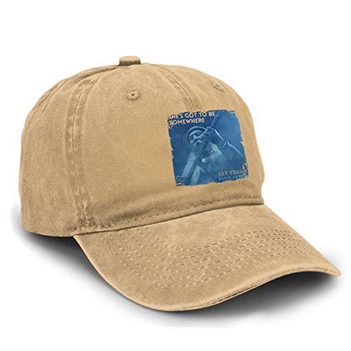 Yuliang David Crosby She's Got to Be Somewhere Novelty Unisex Adult Adjustable Snapback Cowboy Hat Natural (Shes Got To Be Somewhere David Crosby)
