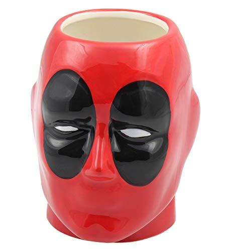 Marvel Deadpool Character 3D Molded Ceramic Hand Painted Coffee Mug