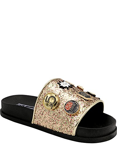 Kappe Robbin Moira-25 Kvinner Glir Flip Flop Glitter Anheng Ornament Sandal Gull