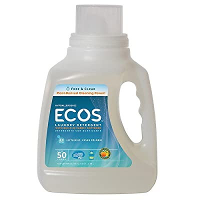Earth Friendly Products ECOS Laundry Detergent, Free and Clear 50 fl oz (1479 ml)