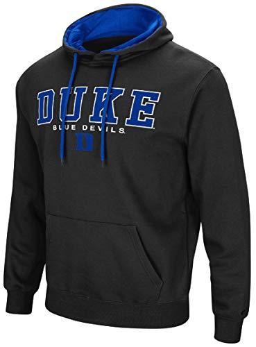Colosseum Duke Blue Devils Men's Black Setter Synthetic Embroidered Hoodie Sweatshirt (X-Large)